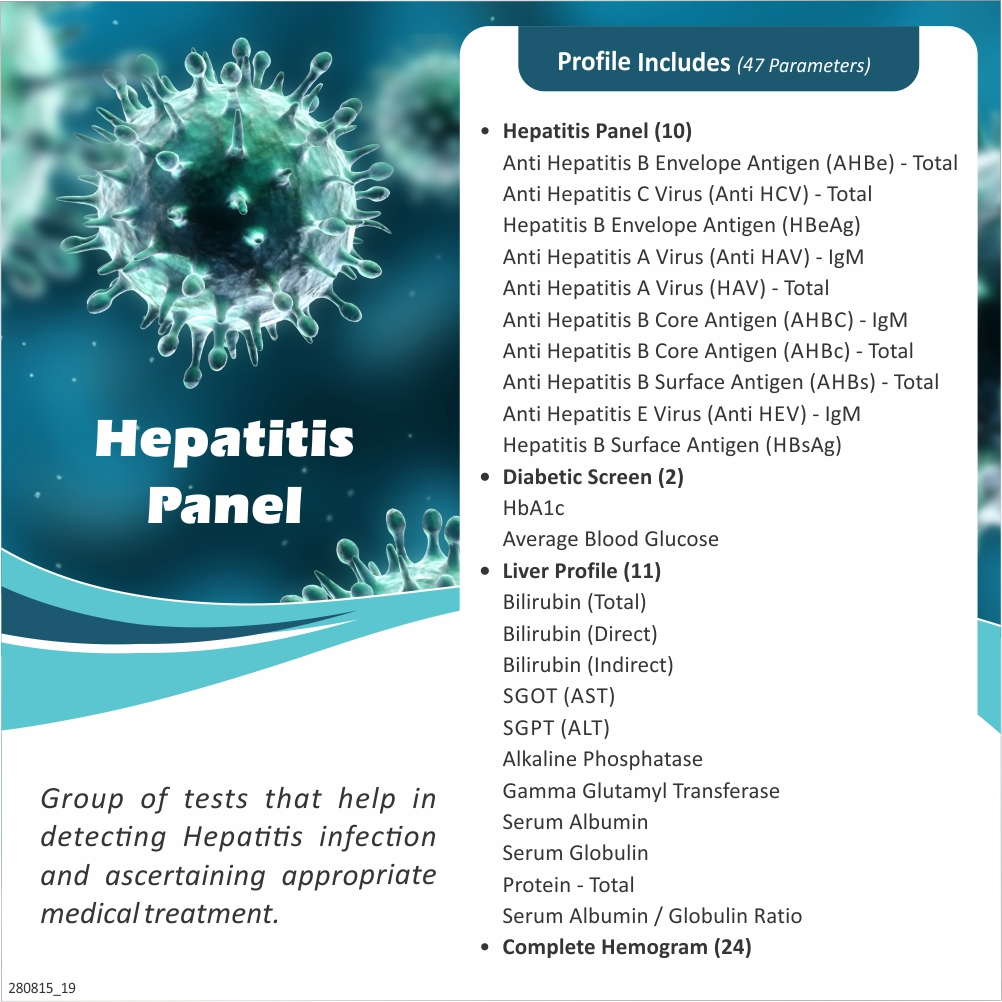 HEPATITIS PANEL in Pune @₹3500 Only | 47 Tests | Thyrocare