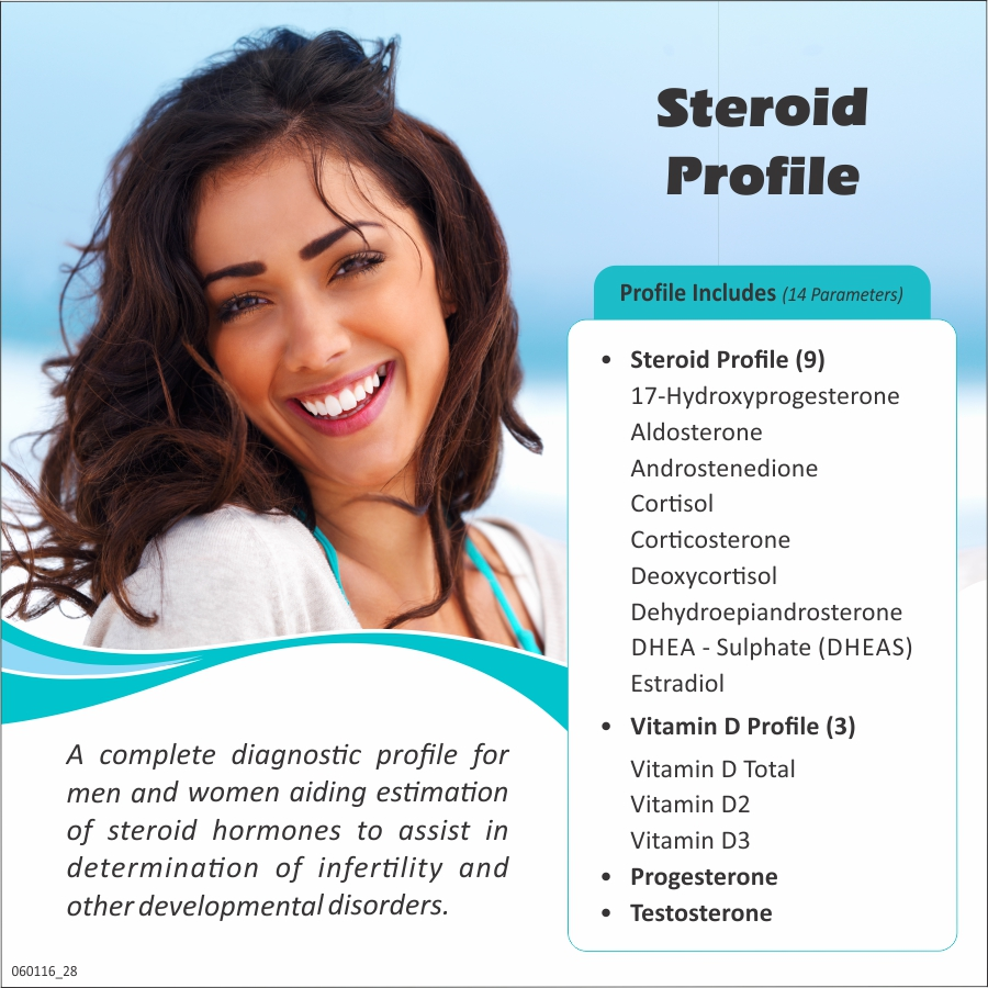 STEROID PROFILE in Delhi @₹2100 Only | 14 Tests | Thyrocare