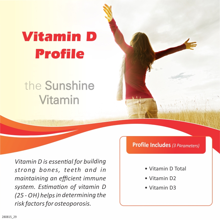 VITAMIN D PROFILE in Chennai @₹900 Only | 3 Tests | Thyrocare