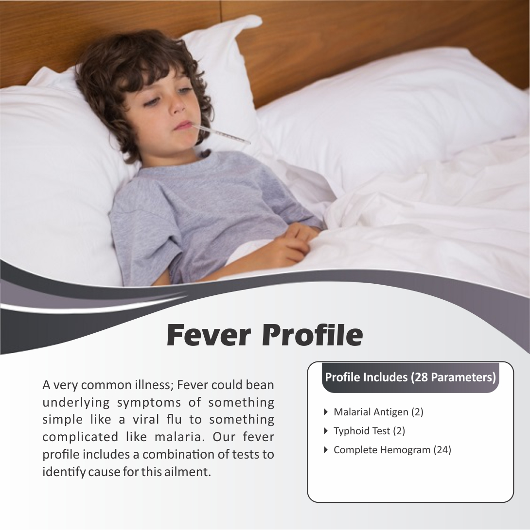 FEVER PROFILE in Bangalore @₹540 Only | 28 Tests | Thyrocare