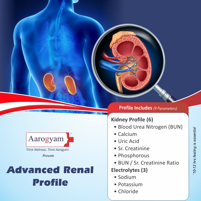 ADVANCED RENAL PROFILE in Bengaluru @₹540 Only | 9 Tests | Thyrocare