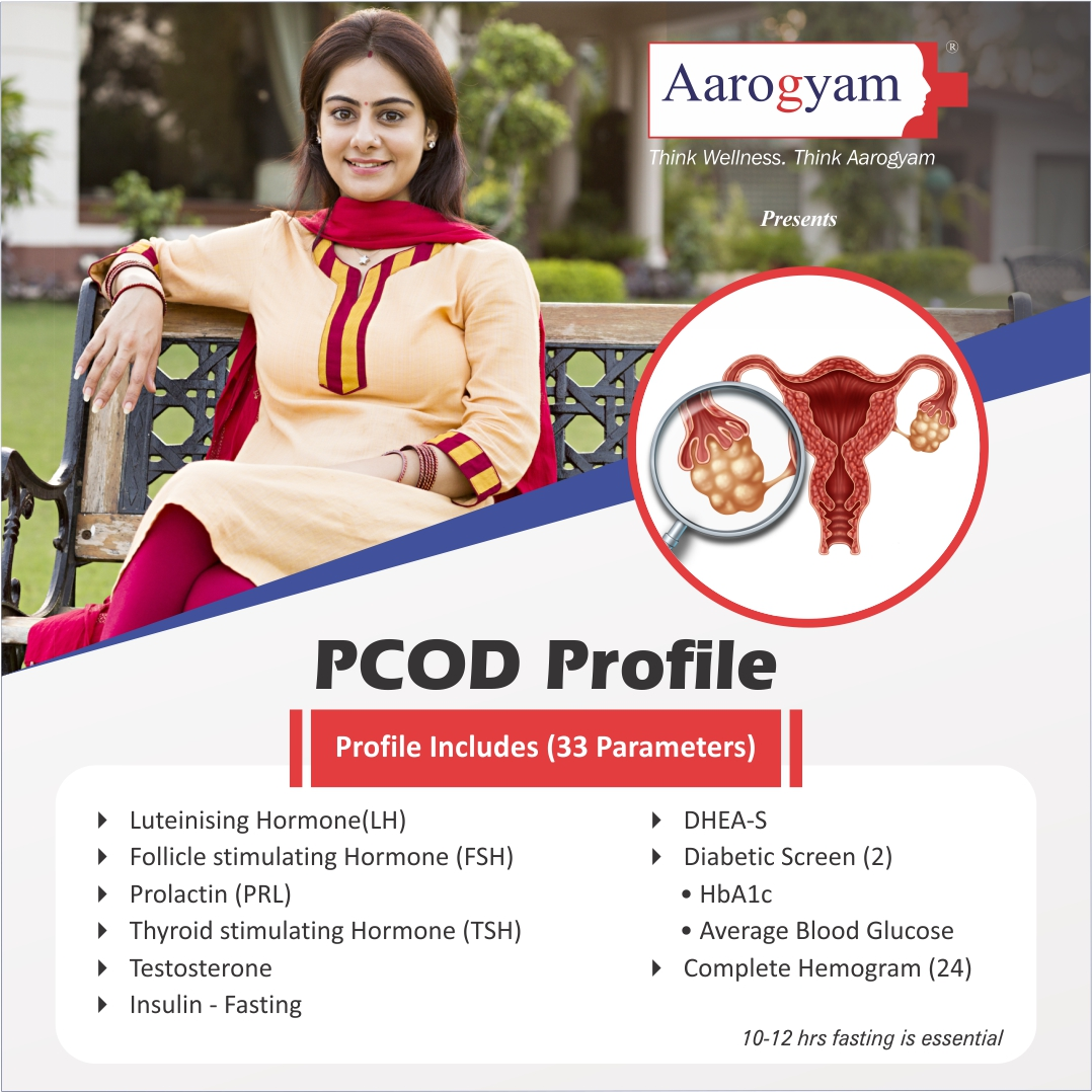 PCOD PROFILE in Hyderabad @₹2100 Only | 33 Tests | Thyrocare