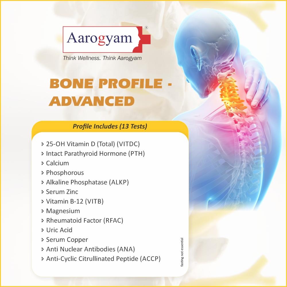 BONE PROFILE - ADVANCED in Mumbai @₹2300 Only | 13 Tests | Thyrocare