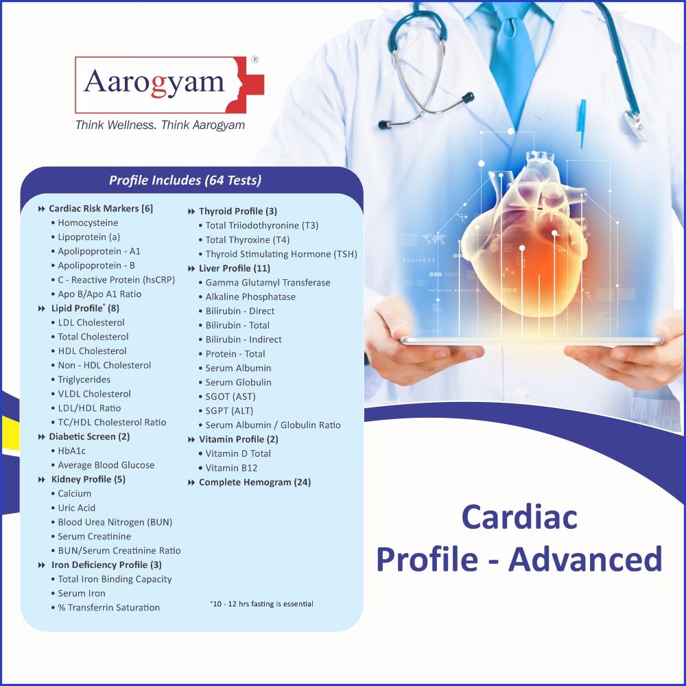 CARDIAC PROFILE - ADVANCED in Mumbai @₹2820 Only | 64 Tests | Thyrocare