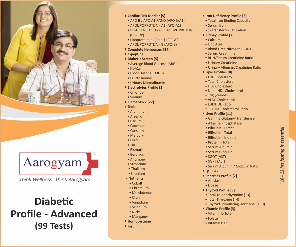 DIABETIC PROFILE - ADVANCED in Mumbai @₹2820 Only | 99 Tests | Thyrocare